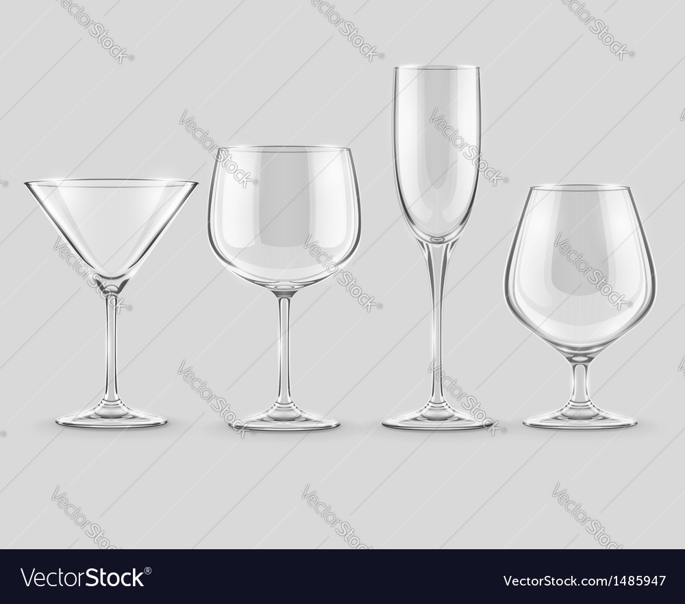 Set of transparent glass vector | Price: 3 Credit (USD $3)