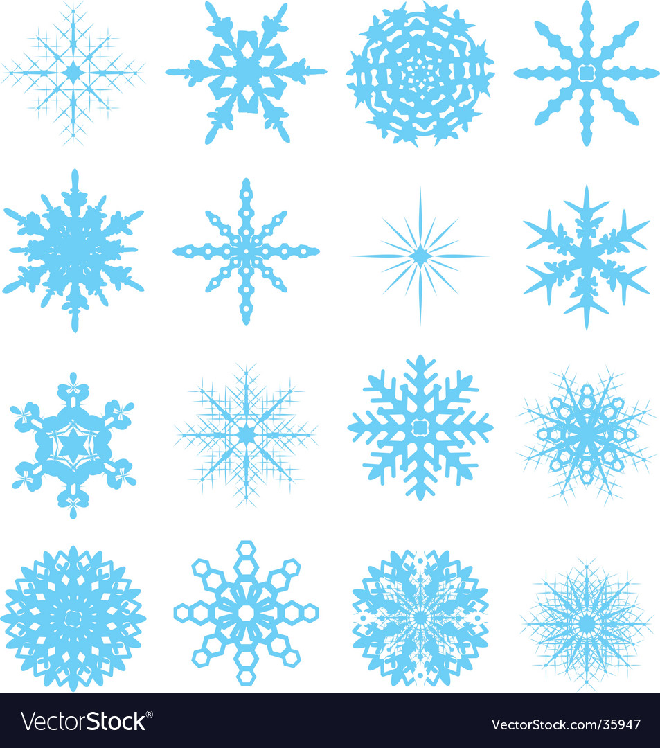 Snowflake variation vector | Price: 1 Credit (USD $1)