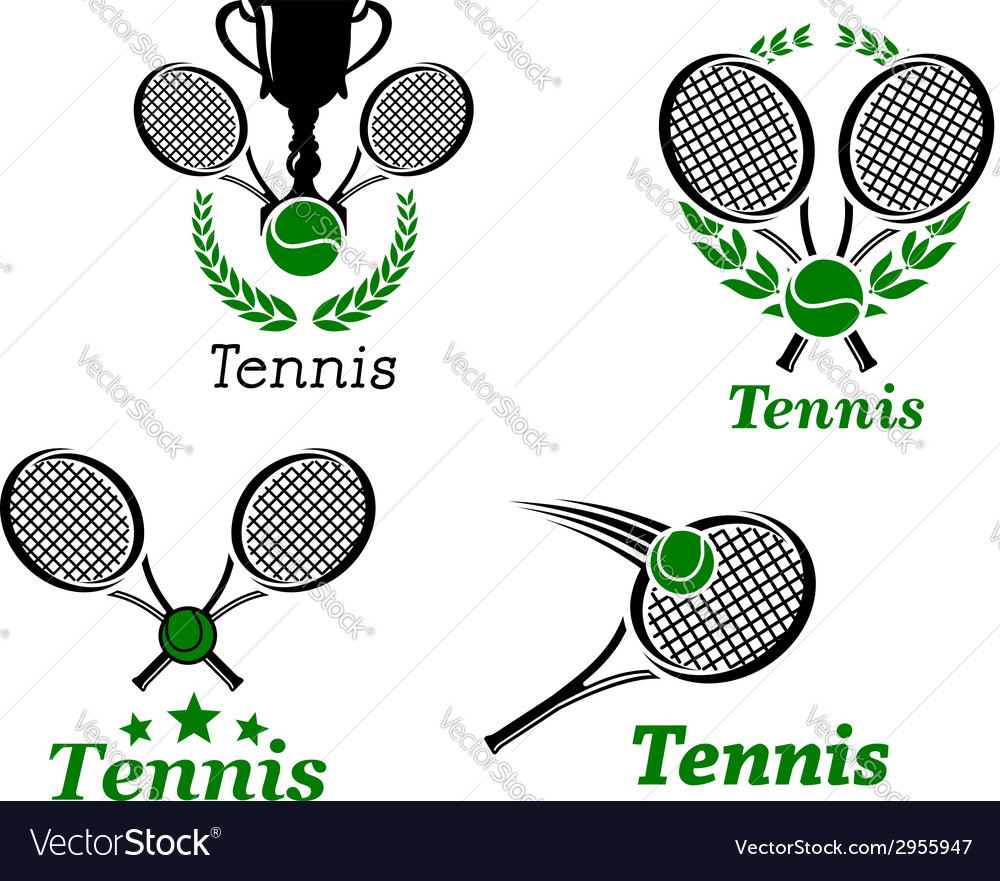 Tennis sport emblems vector | Price: 1 Credit (USD $1)