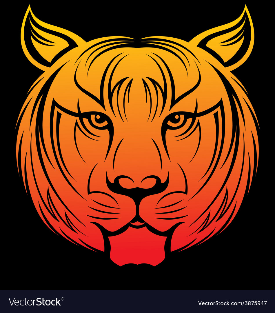 Tiger head vector   Price: 1 Credit (USD $1)