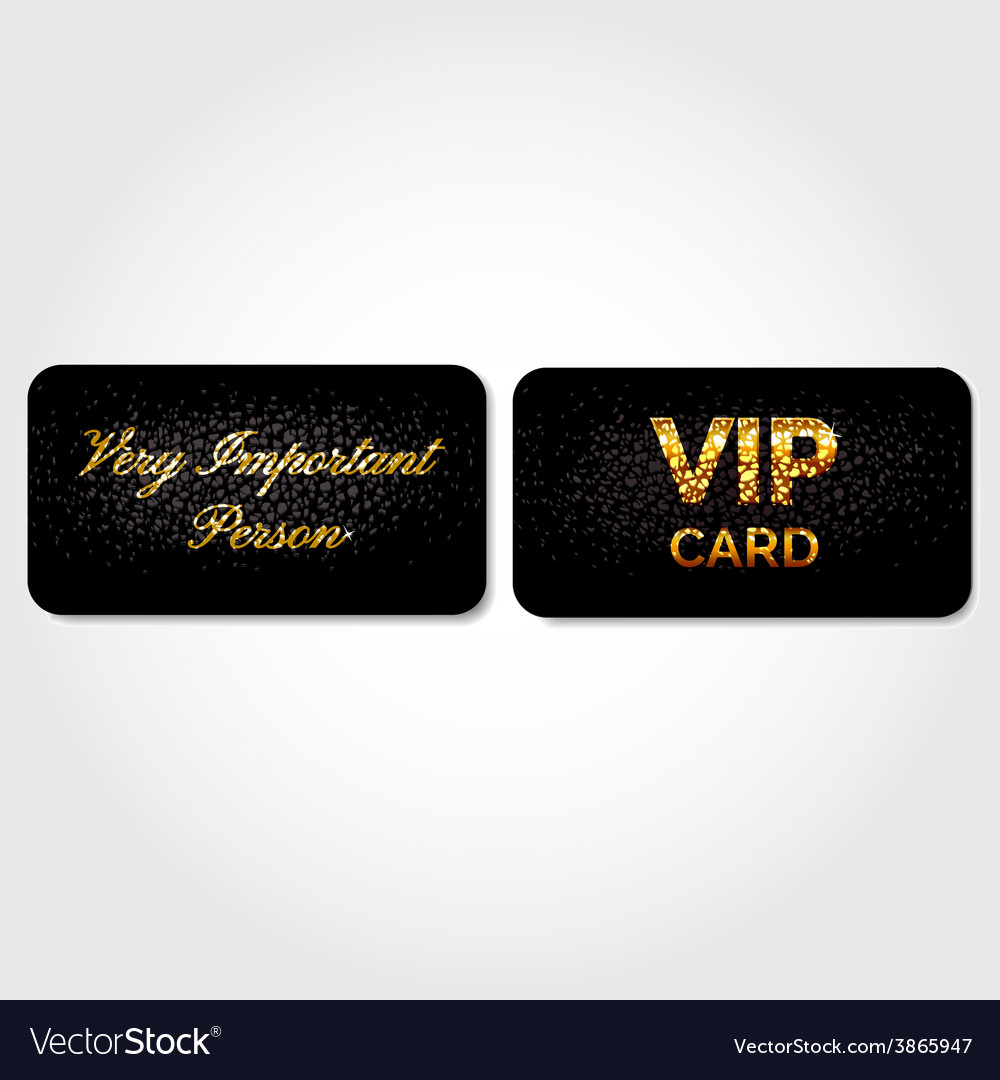 Vip card decorated with leather vector | Price: 1 Credit (USD $1)