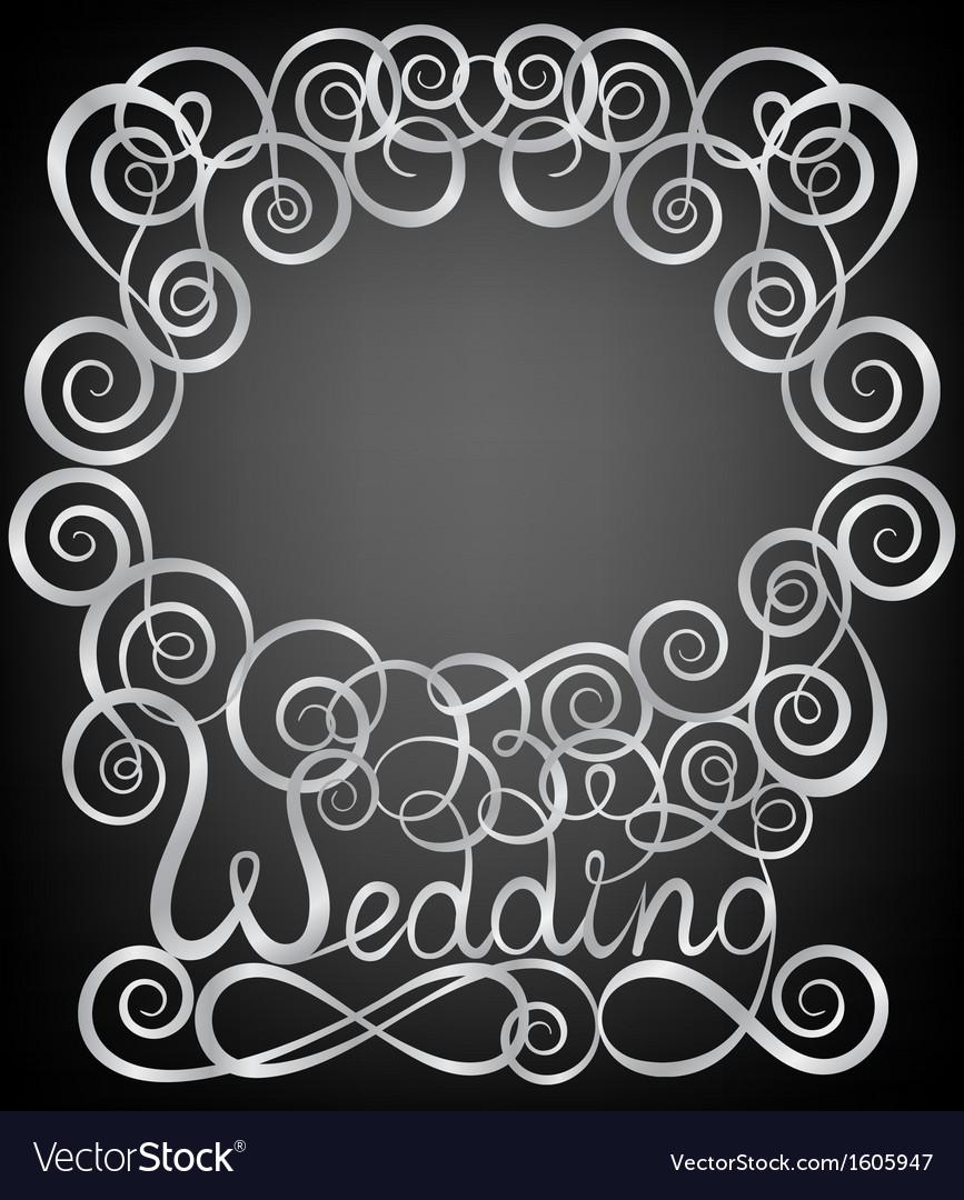 Wedding pattern frame vector | Price: 1 Credit (USD $1)