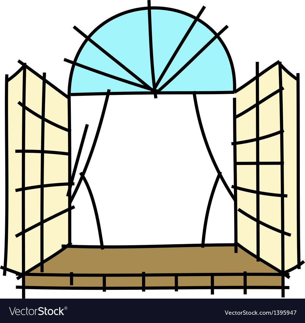 The window are opend vector | Price: 1 Credit (USD $1)