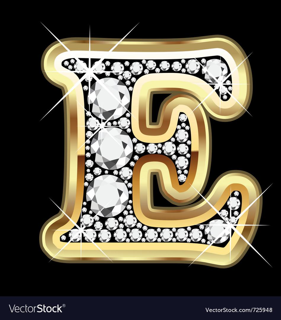 E gold and diamond vector | Price: 1 Credit (USD $1)