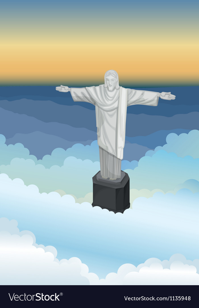 Jejus statue vector | Price: 1 Credit (USD $1)