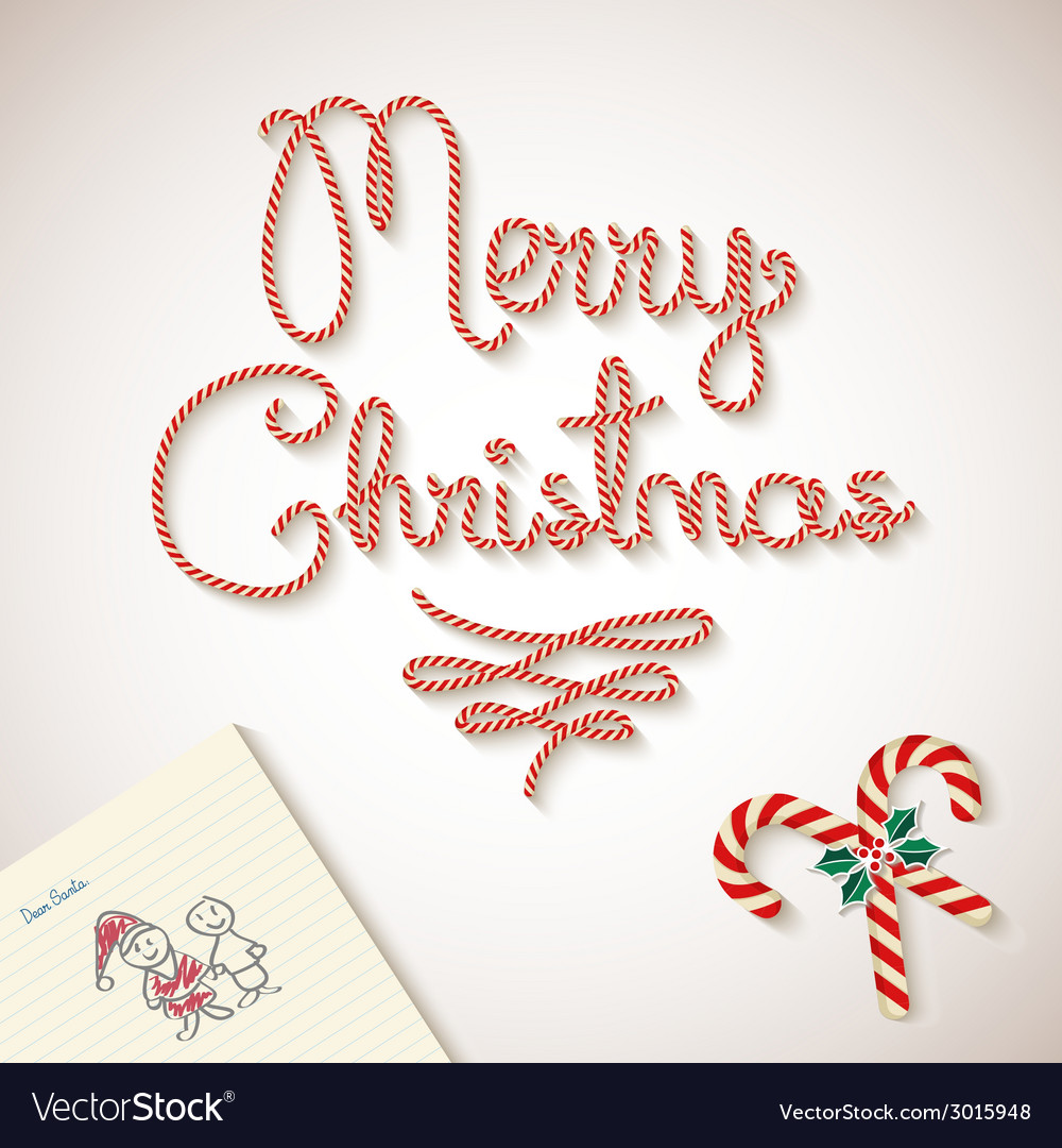 Merry christmas dear santa sketchy letter vector | Price: 1 Credit (USD $1)