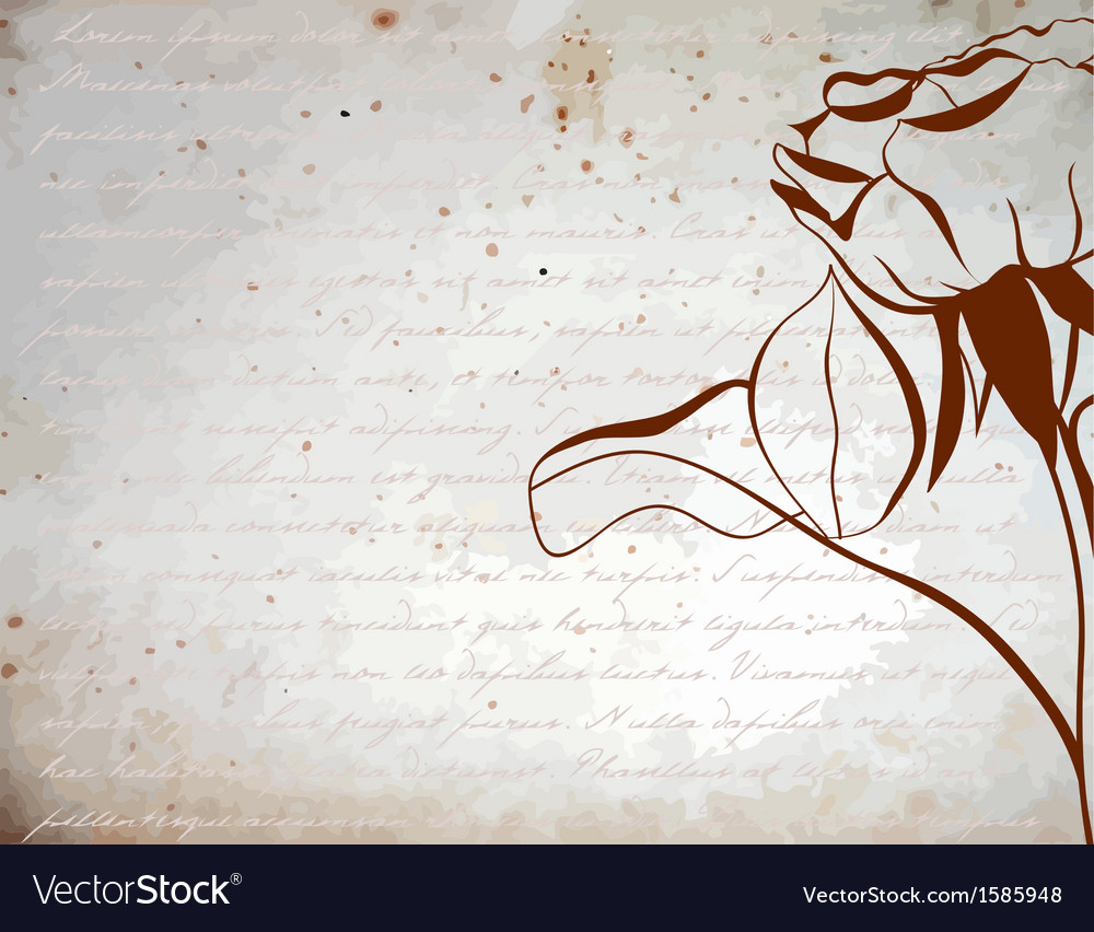 Silhouette rose on a vintage background vector | Price: 1 Credit (USD $1)