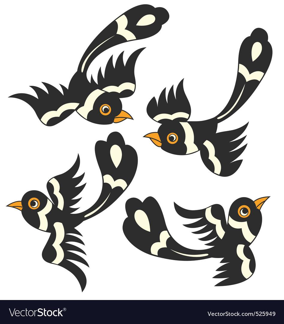 Bird cartoon design vector | Price: 1 Credit (USD $1)