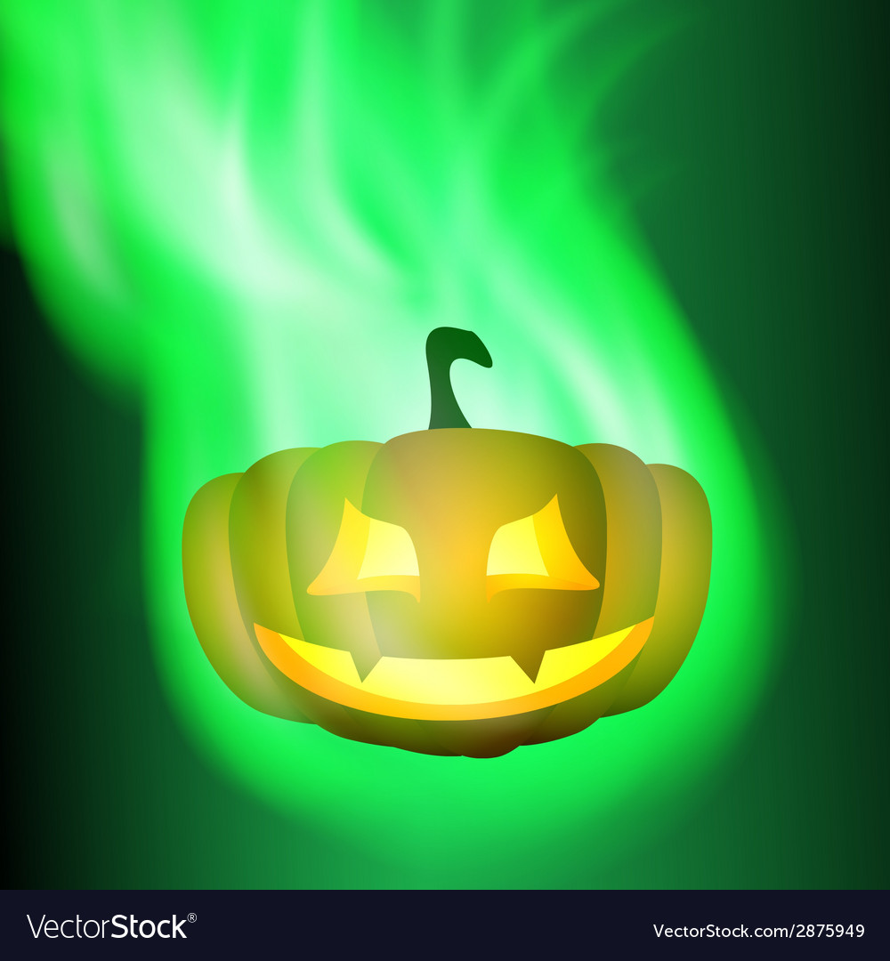 Burning pumpkin vector | Price: 1 Credit (USD $1)