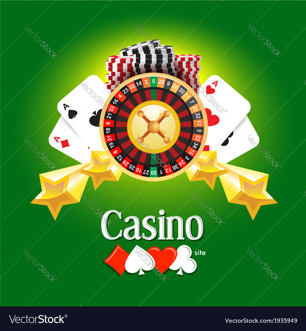 Casino american roulette money cards game green vector | Price: 1 Credit (USD $1)