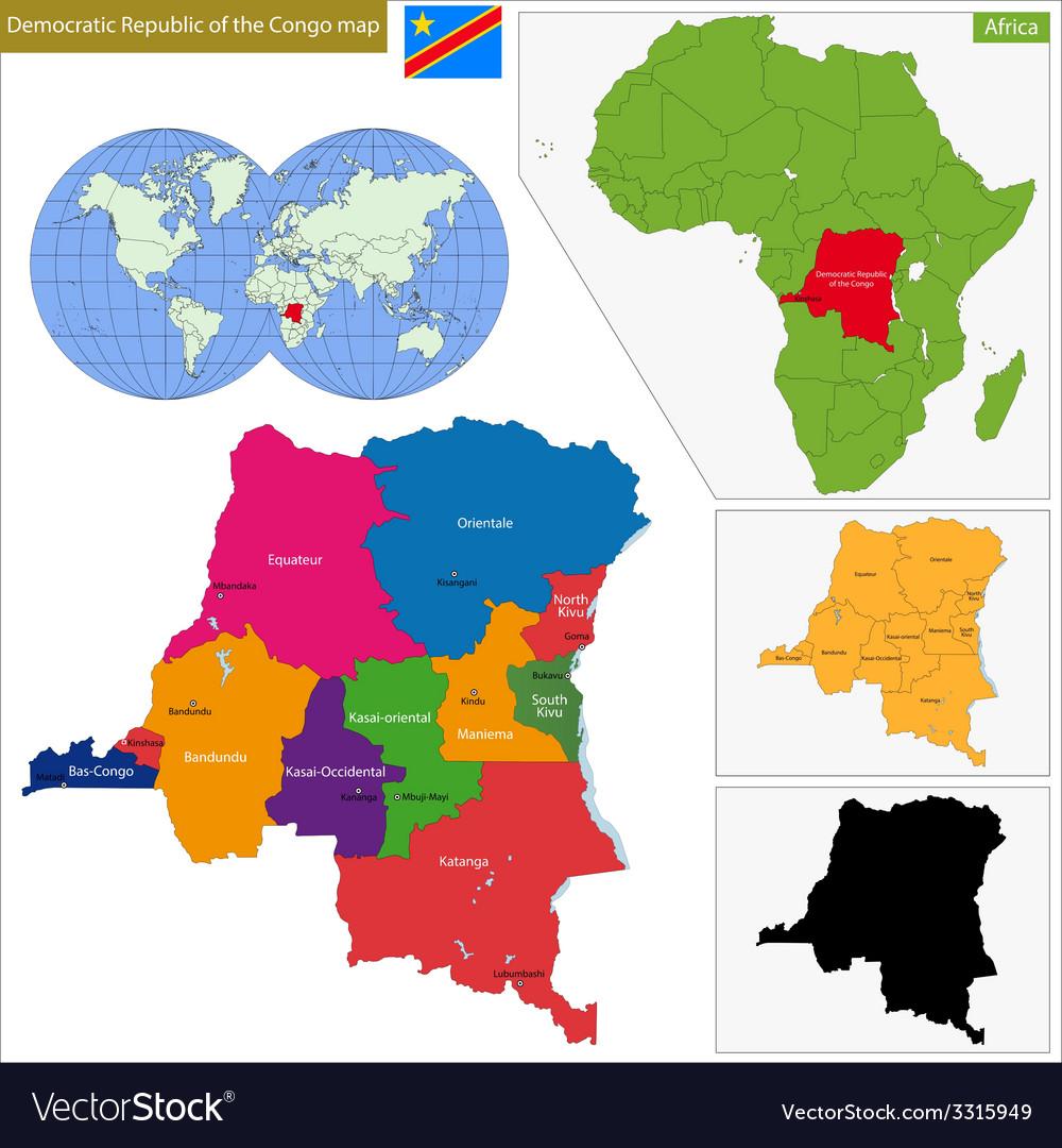 Democratic republic of the congo vector | Price: 1 Credit (USD $1)