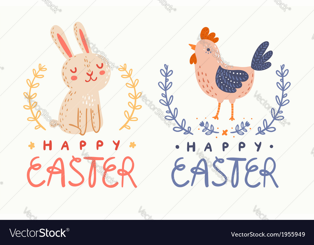 Happy easter graphic vector | Price: 1 Credit (USD $1)