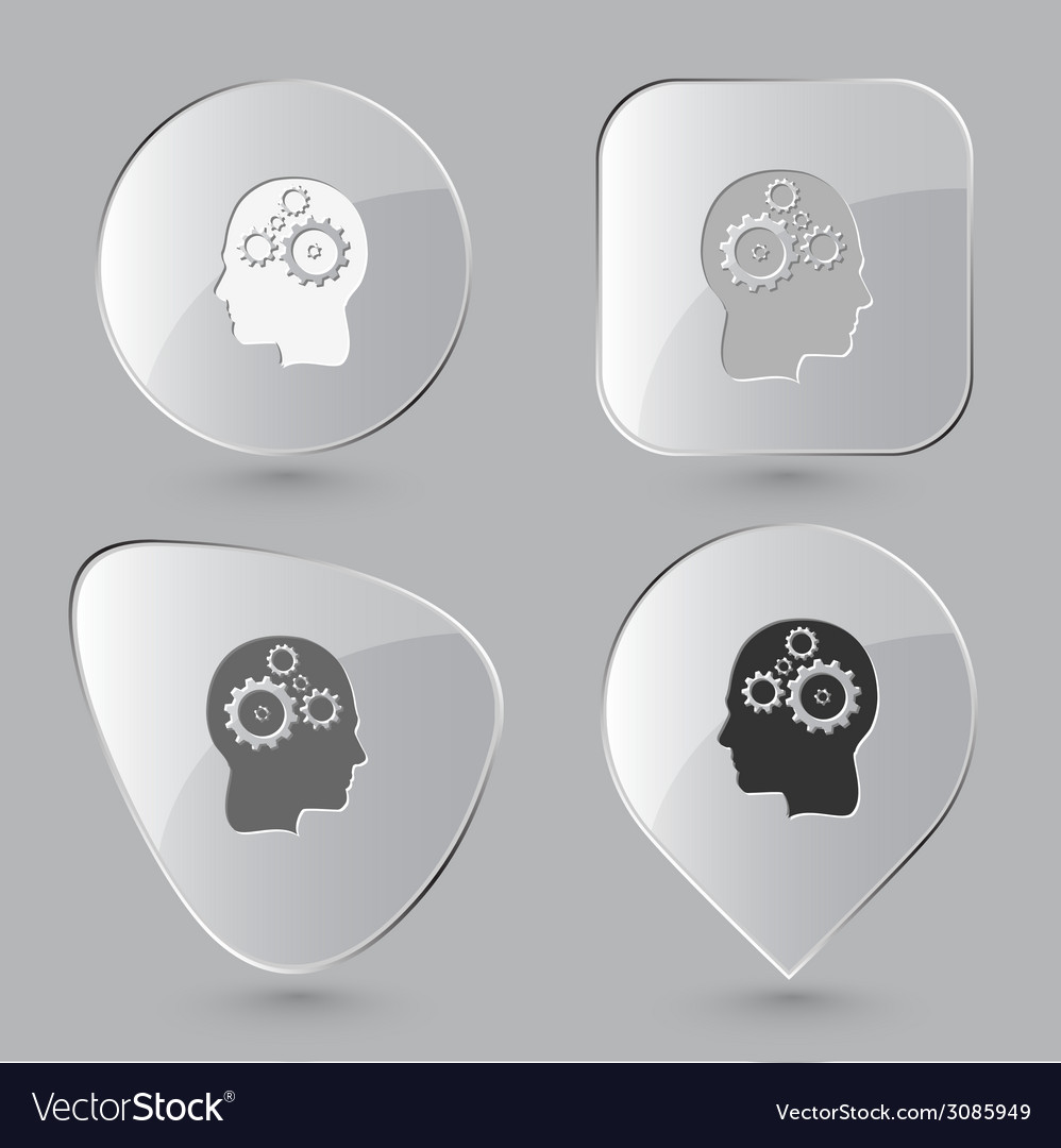 Human brain glass buttons vector | Price: 1 Credit (USD $1)