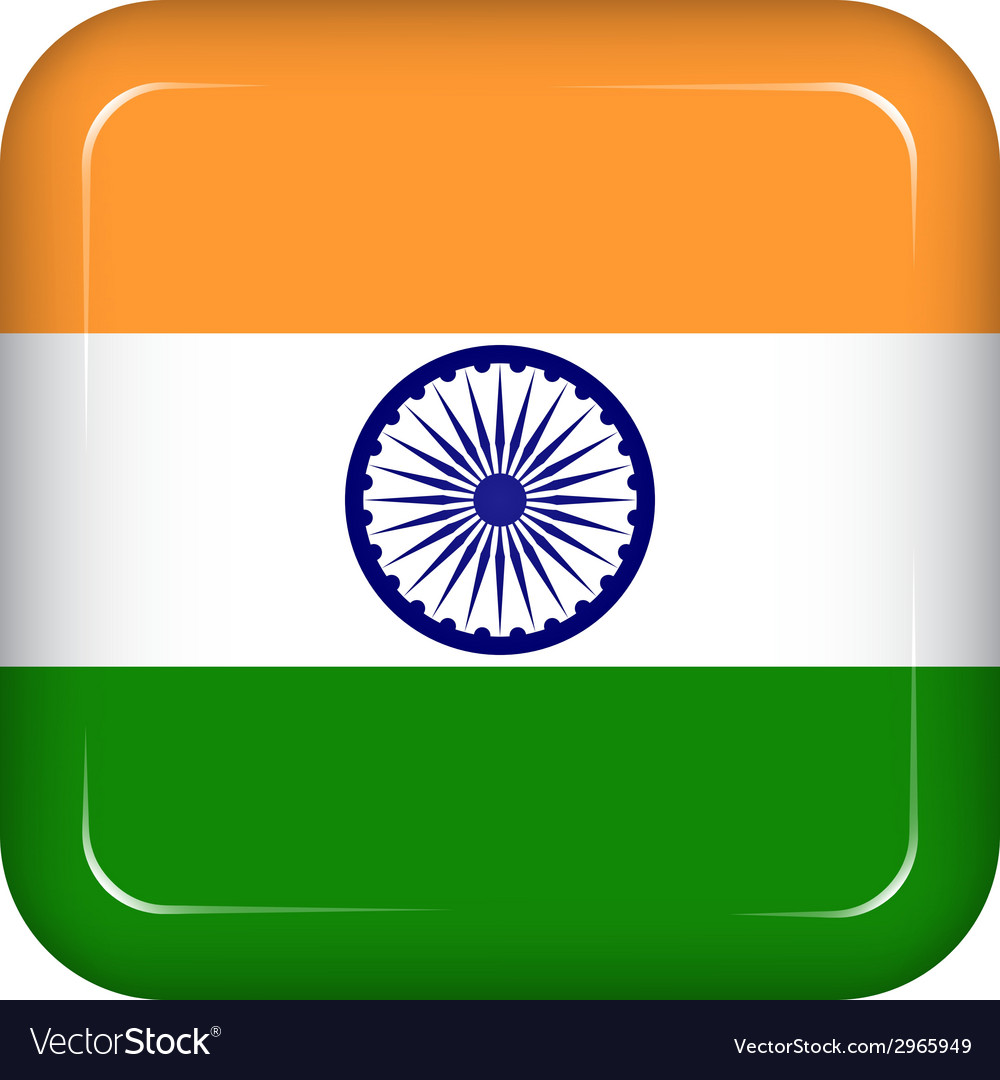 India flag vector | Price: 1 Credit (USD $1)