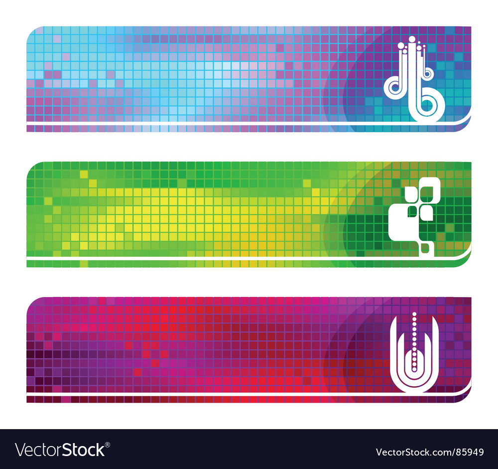 Three hi tech banners vector | Price: 1 Credit (USD $1)
