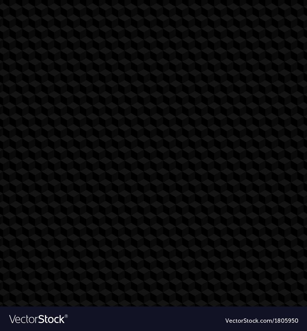 Black hexagon texture seamless background vector | Price: 1 Credit (USD $1)