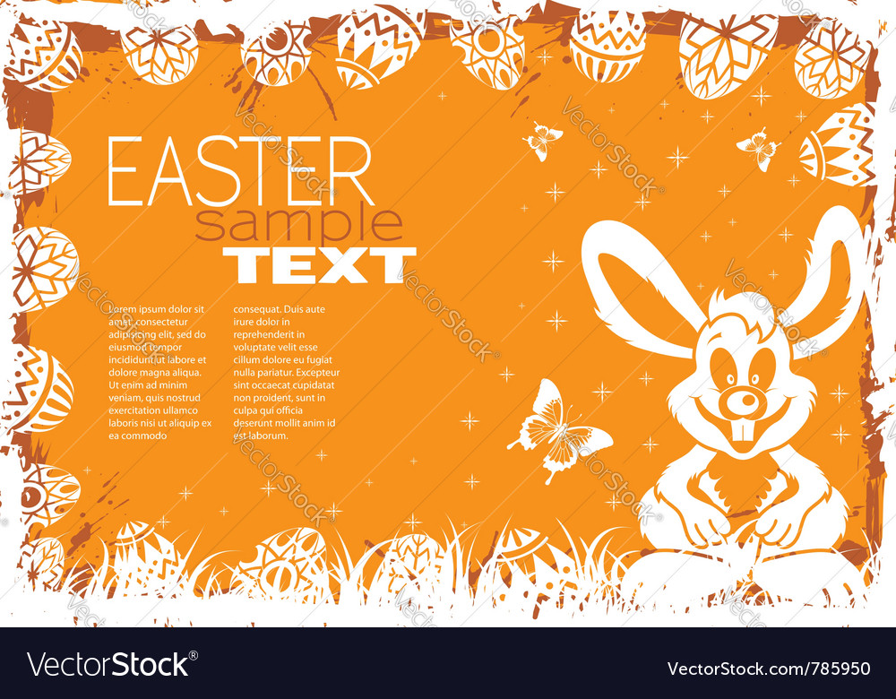 Easter grunge frame vector | Price: 1 Credit (USD $1)