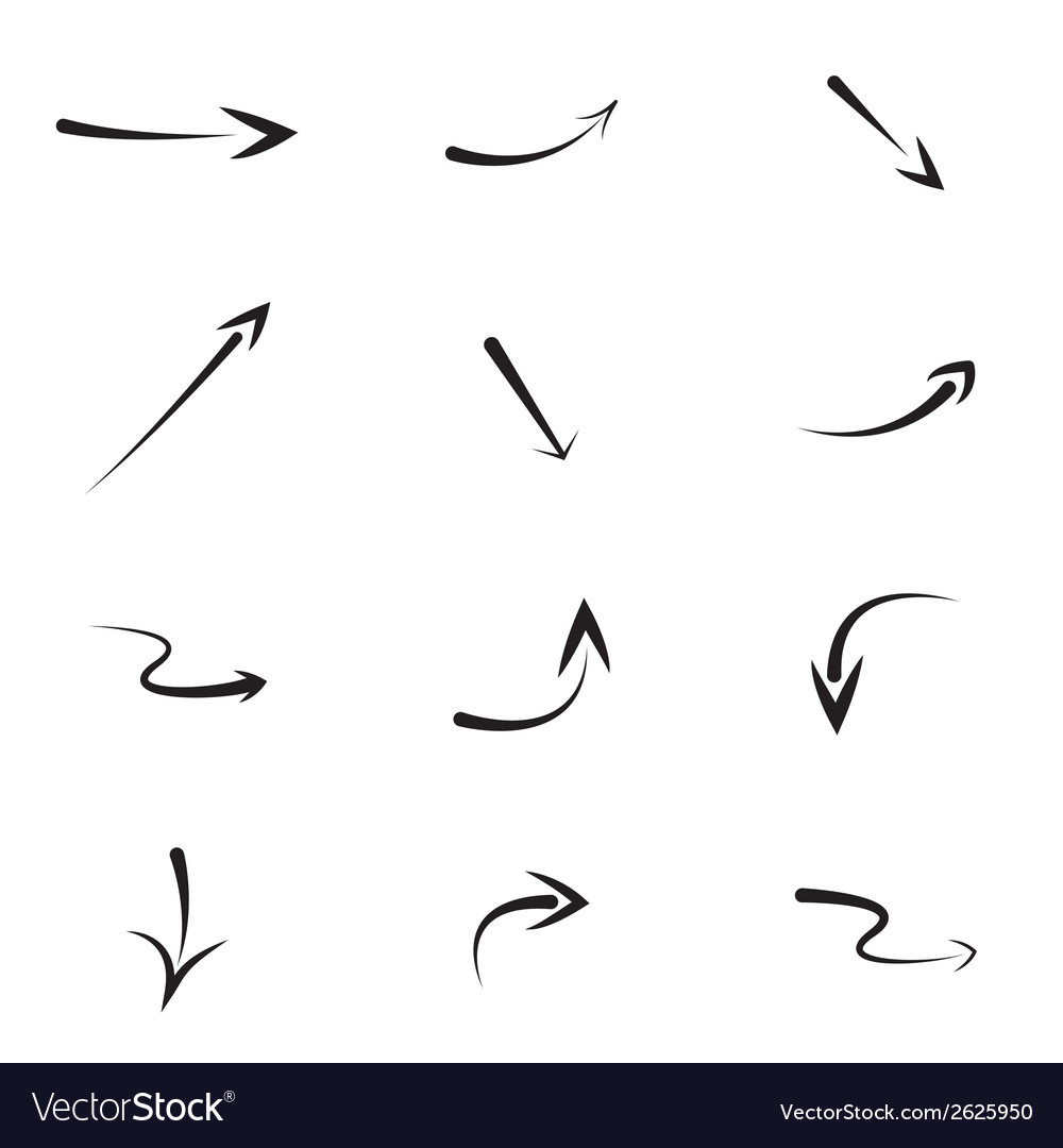 Hand drawn arrows vector | Price: 1 Credit (USD $1)