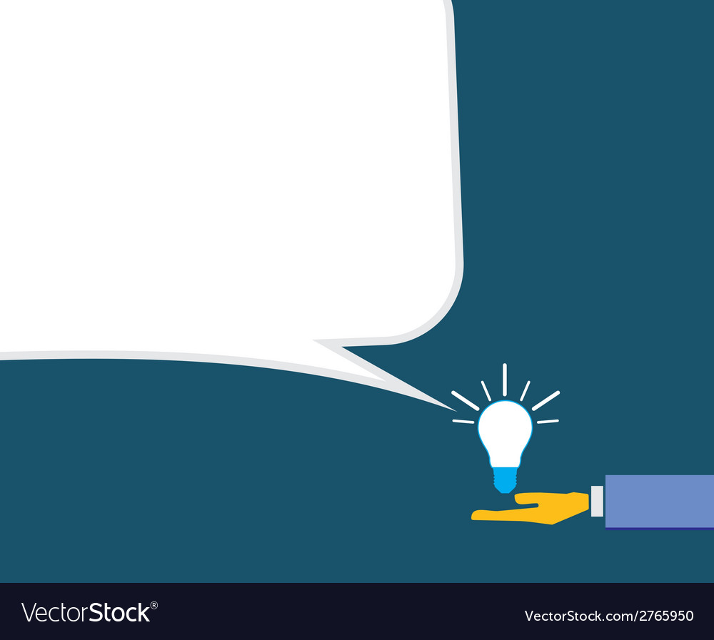 Idea with human hand vector | Price: 1 Credit (USD $1)