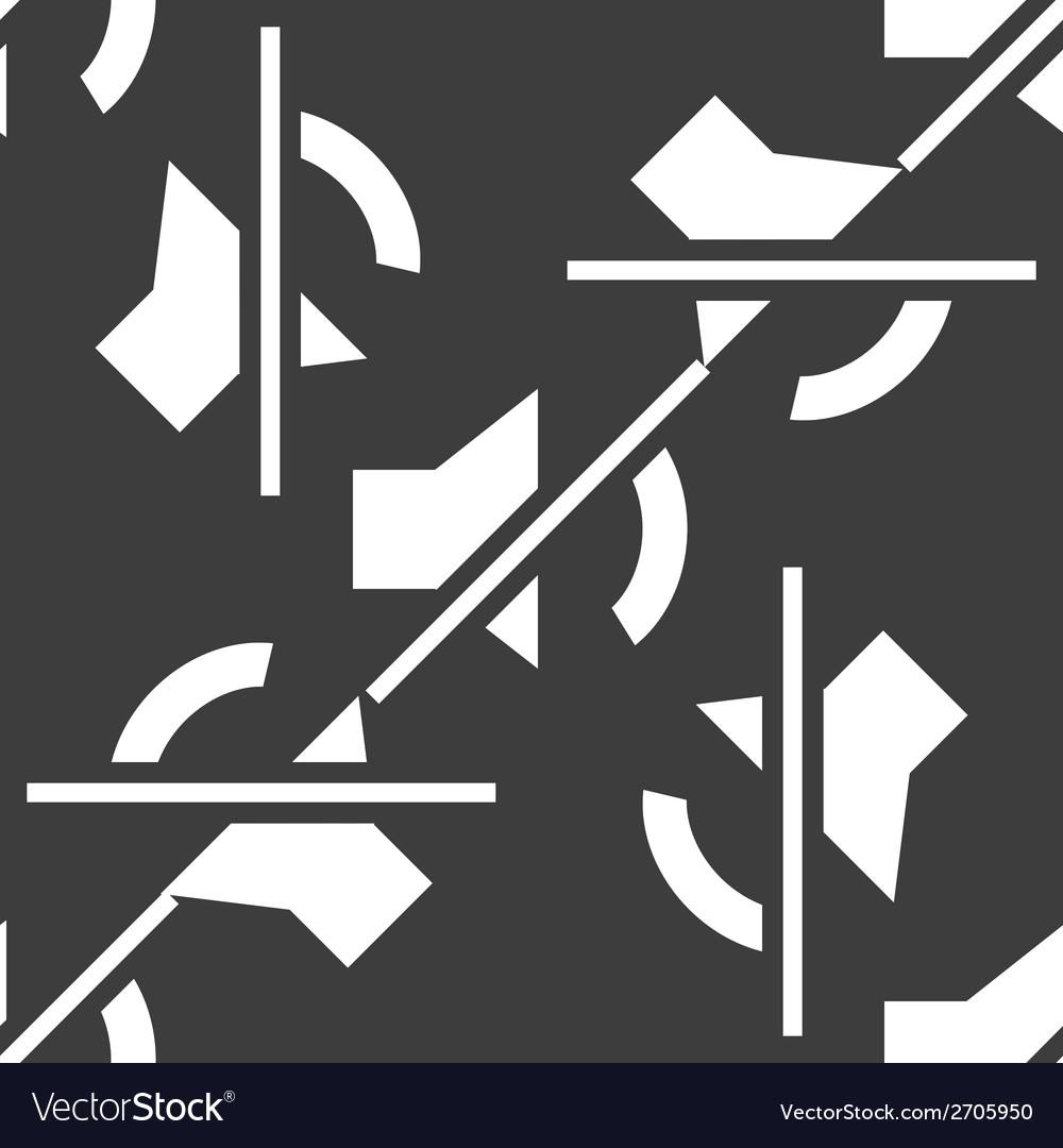Mute sound web icon flat design seamless pattern vector | Price: 1 Credit (USD $1)