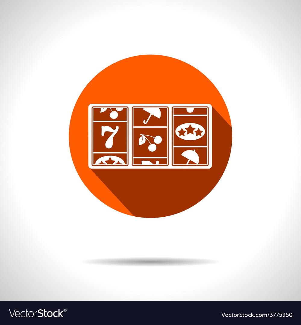 Orange slot icon eps10 vector | Price: 1 Credit (USD $1)