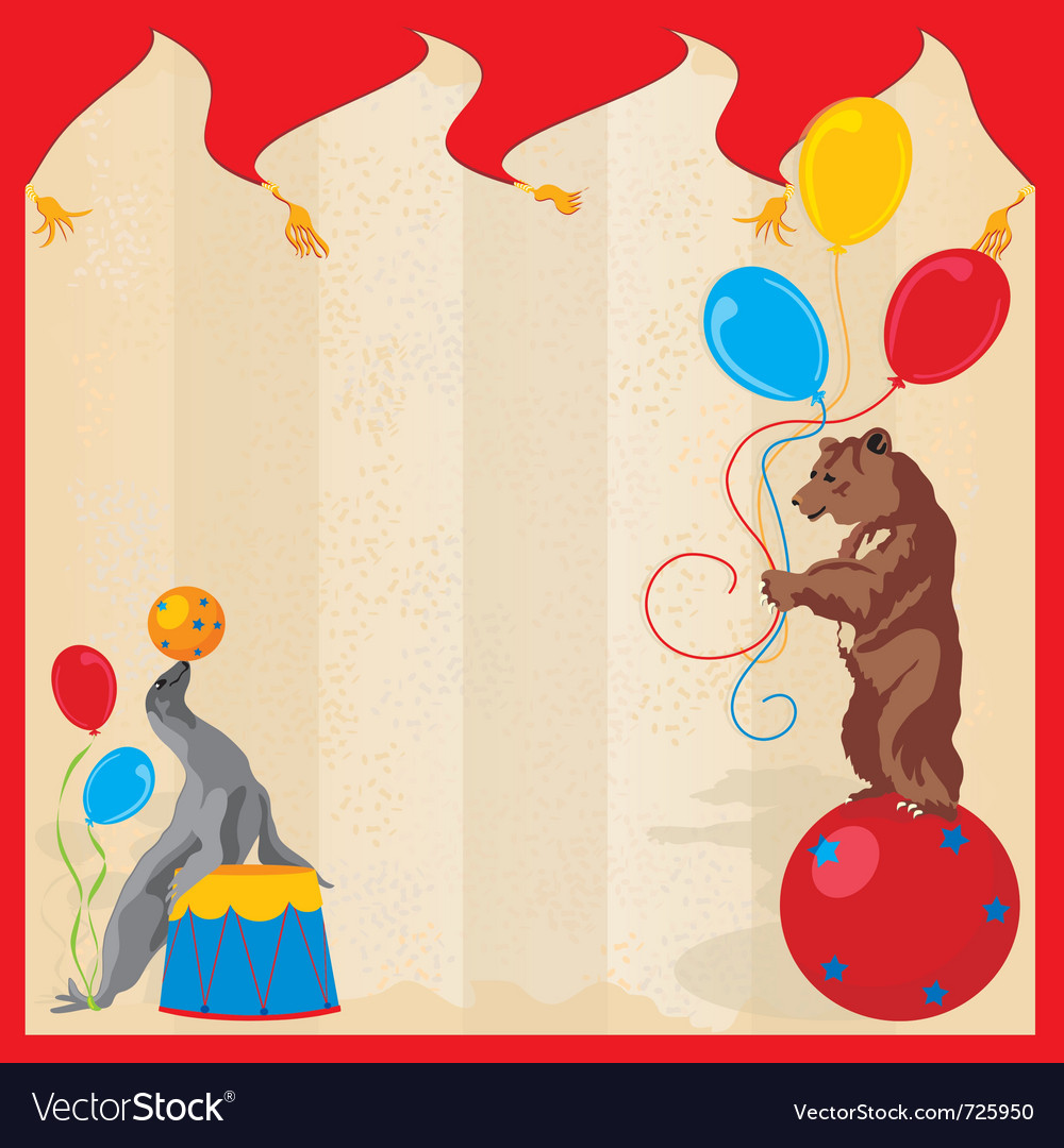 Performing animals circus vector | Price: 1 Credit (USD $1)
