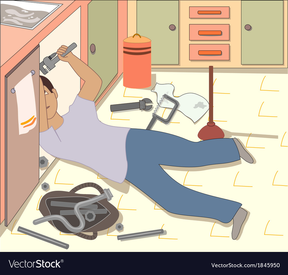 The plumber vector | Price: 1 Credit (USD $1)