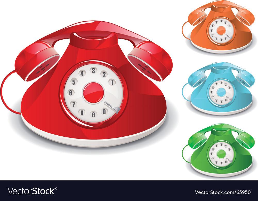 Retro telephone vector | Price: 3 Credit (USD $3)