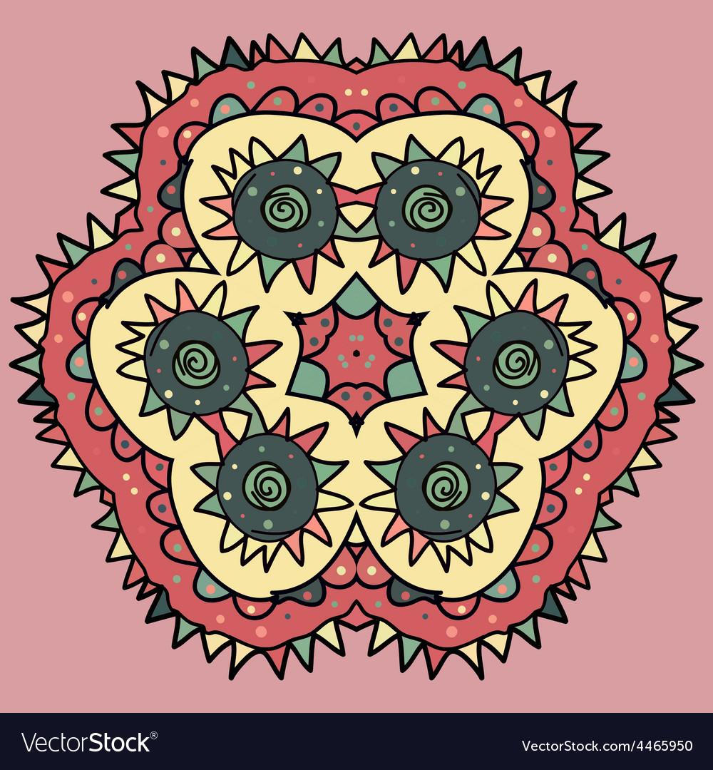 Seamless round pattern vector | Price: 1 Credit (USD $1)