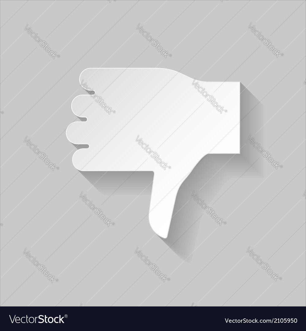 Thumbs down sign vector | Price: 1 Credit (USD $1)