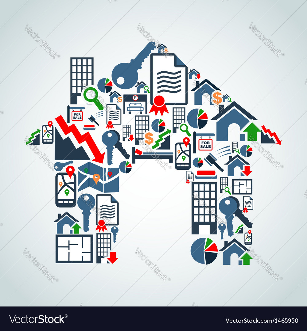 Your own house property service vector | Price: 1 Credit (USD $1)