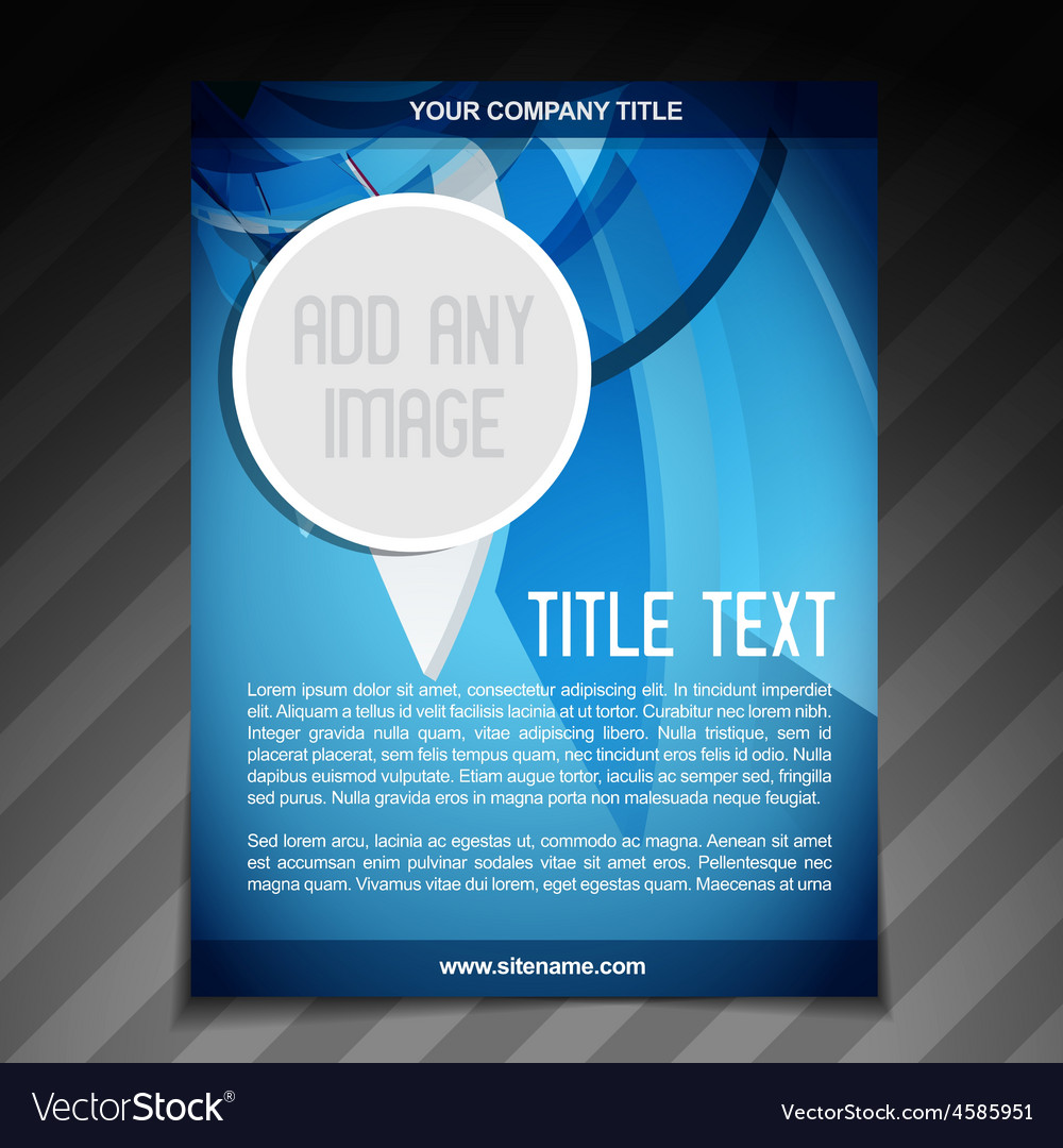 Advertise flyer brochure template vector | Price: 1 Credit (USD $1)