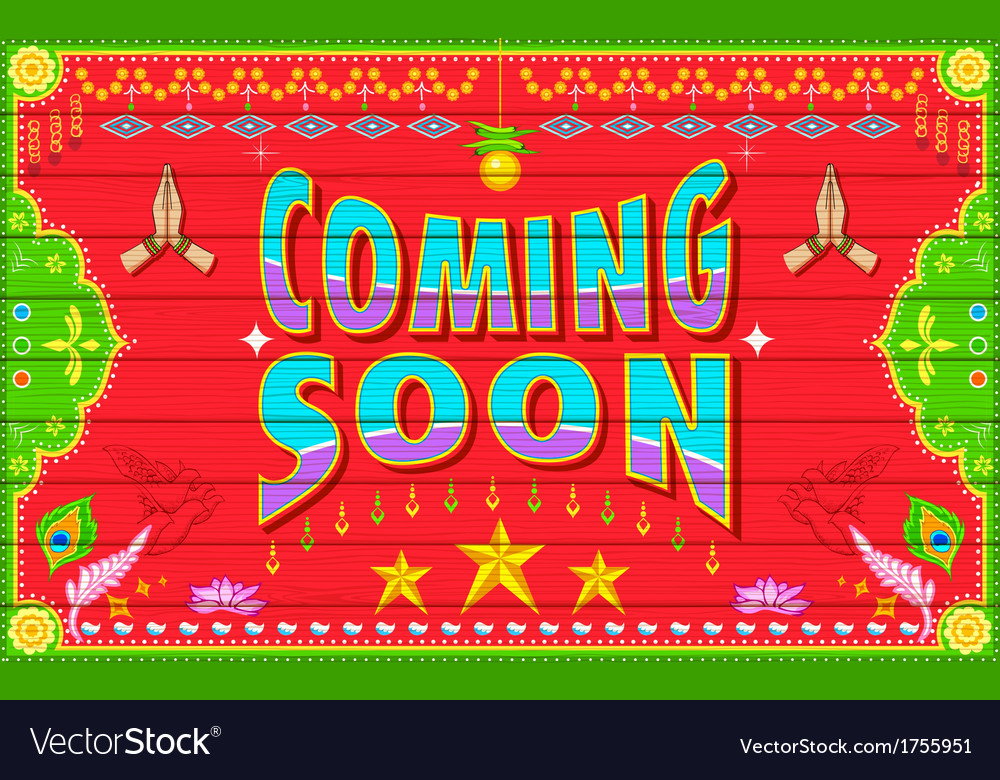 Coming soon vector | Price: 1 Credit (USD $1)