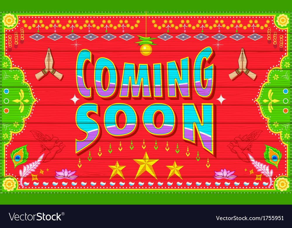 Coming soon vector | Price: 1 Credit (USD $1)