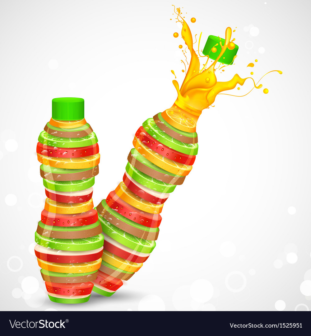 Fruit juice vector | Price: 1 Credit (USD $1)