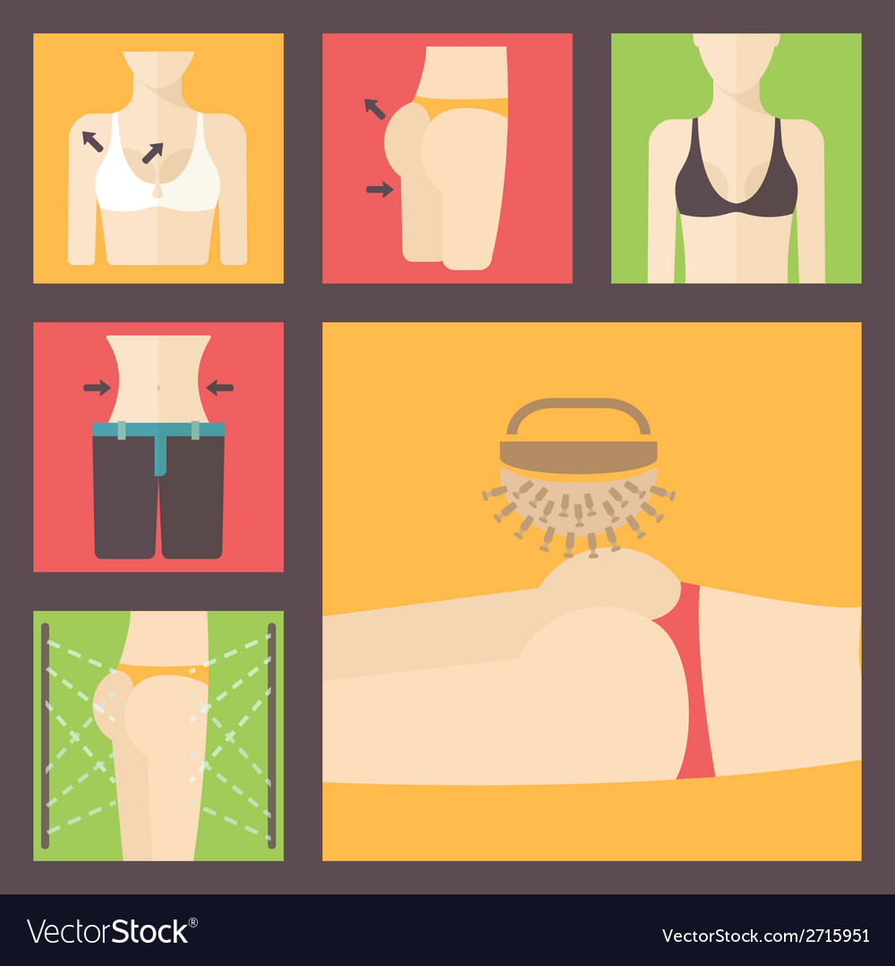 Keeping fit weight loss plastic surgery set vector | Price: 1 Credit (USD $1)