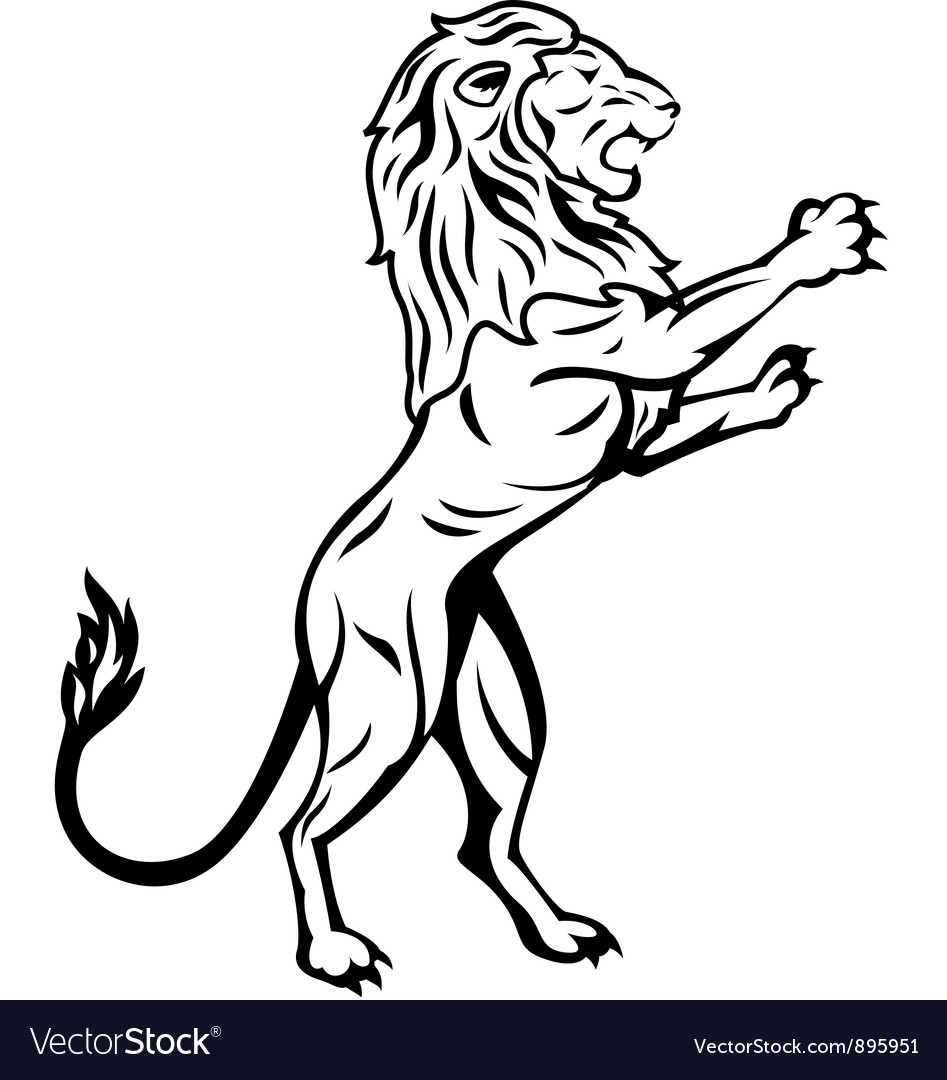 Lion trabal tattoo vector | Price: 1 Credit (USD $1)