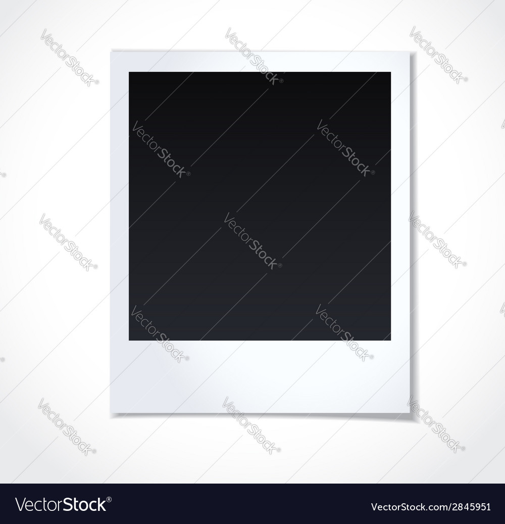 Polaroid photoframe on white background vector | Price: 1 Credit (USD $1)