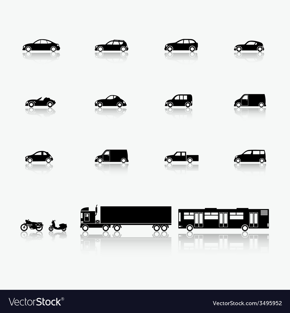 Automobiles and motorcycles vector | Price: 1 Credit (USD $1)