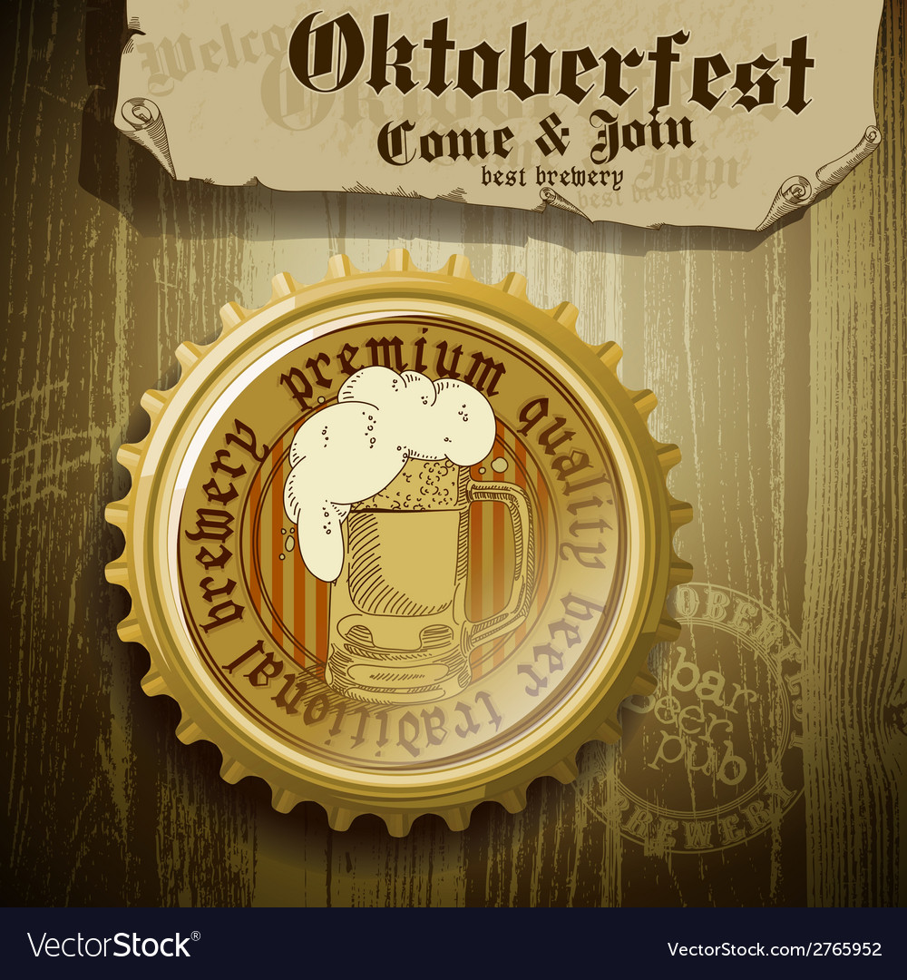 Beer background oktoberfest vector | Price: 1 Credit (USD $1)