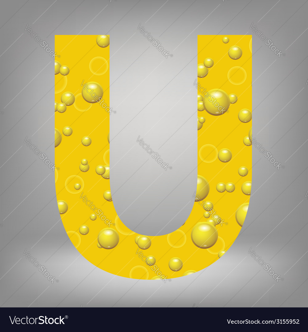 Beer letter u vector | Price: 1 Credit (USD $1)