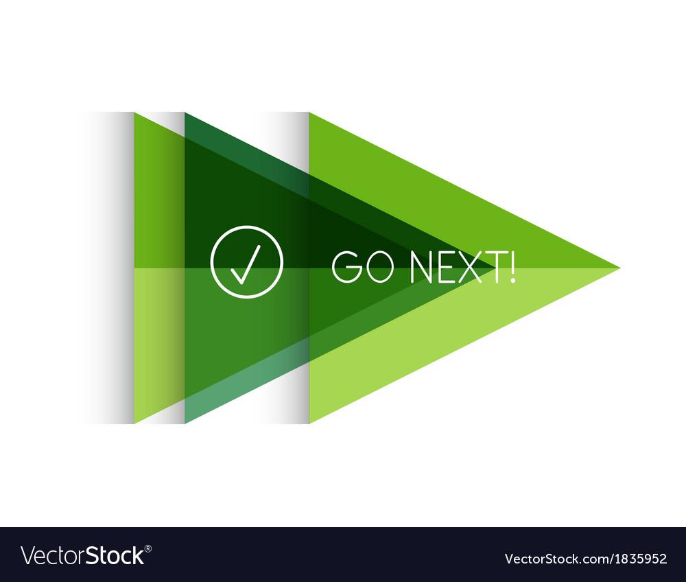 Color paper arrow design template vector   Price: 1 Credit (USD $1)