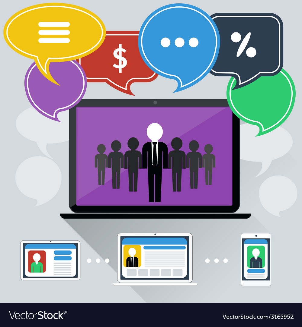 Concept of online meeting conference webinars vector | Price: 1 Credit (USD $1)