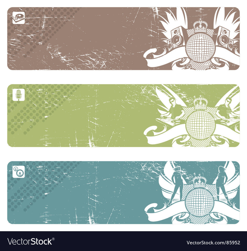 Disco banners vector | Price: 1 Credit (USD $1)