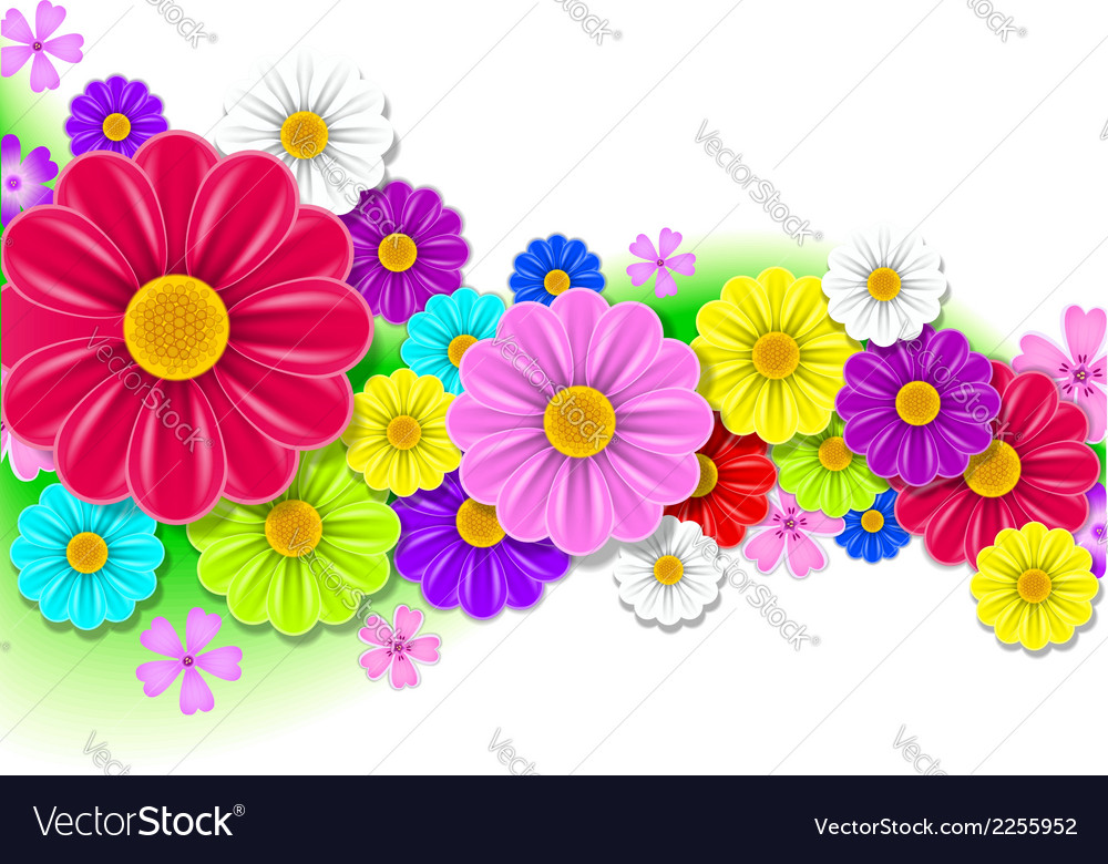 Floral background of flowers vector | Price: 1 Credit (USD $1)