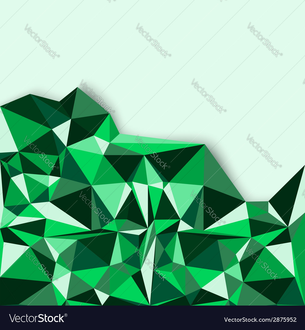 Geometric abstract background in green tones vector | Price: 1 Credit (USD $1)