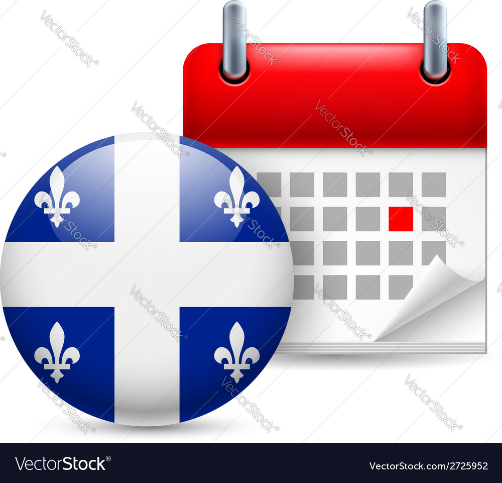 Icon of national day in quebec vector | Price: 1 Credit (USD $1)