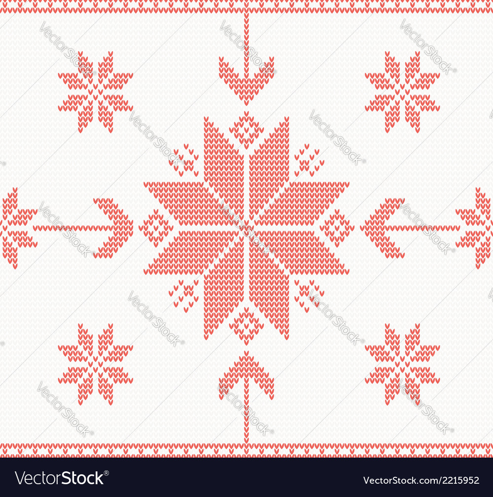 Knitted stars in norwegian style vector | Price: 1 Credit (USD $1)