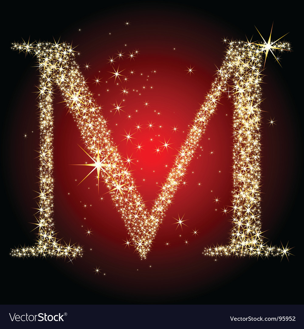 Letter star m vector | Price: 1 Credit (USD $1)