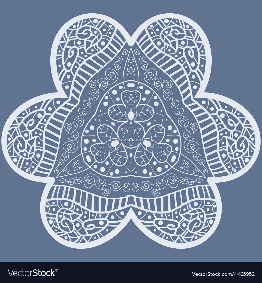 Mehndi like flower vector | Price: 1 Credit (USD $1)